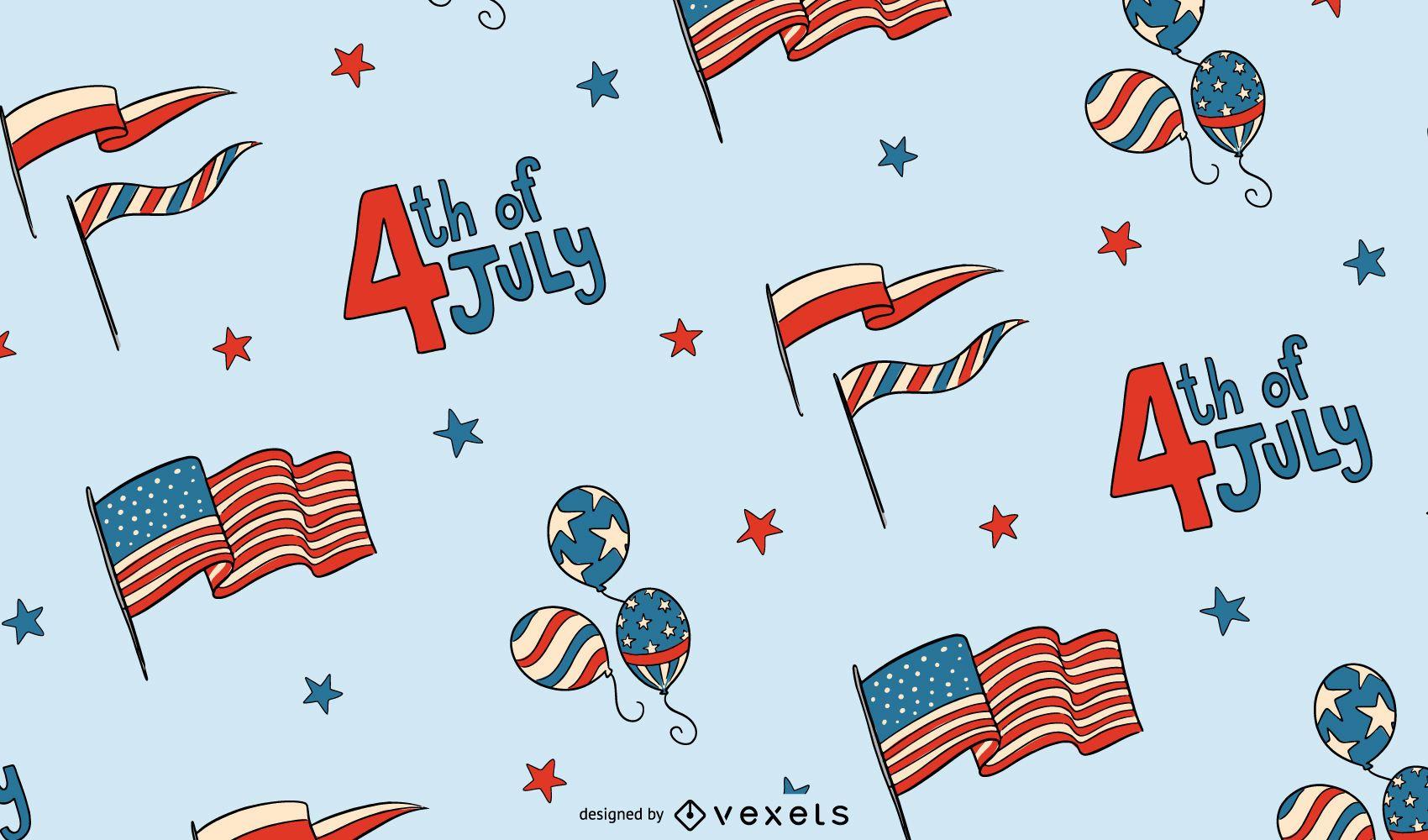 4 de diseño de patrón de julio