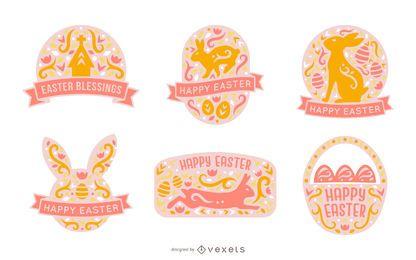 Paquete de insignias de Pascua de estilo escandinavo