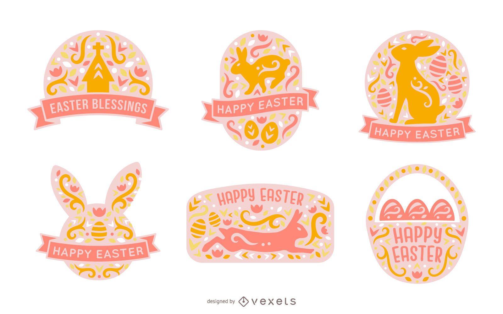 Scandinavian Style Easter Badge Pack