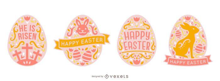 Paquete de huevos de Pascua de estilo escandinavo