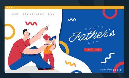 Modelo de página de destino do dia dos pais
