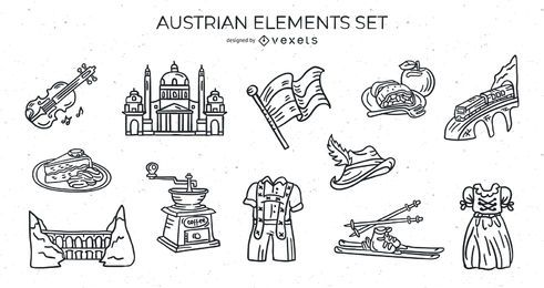 Austrian elements stroke set