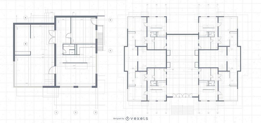 Arquitetura Mansão Blueprint Design