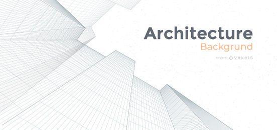 Projeto de plano de fundo de edifícios de arquitetura