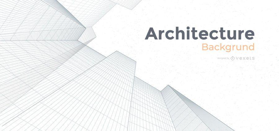 Diseño de fondo de edificios de arquitectura
