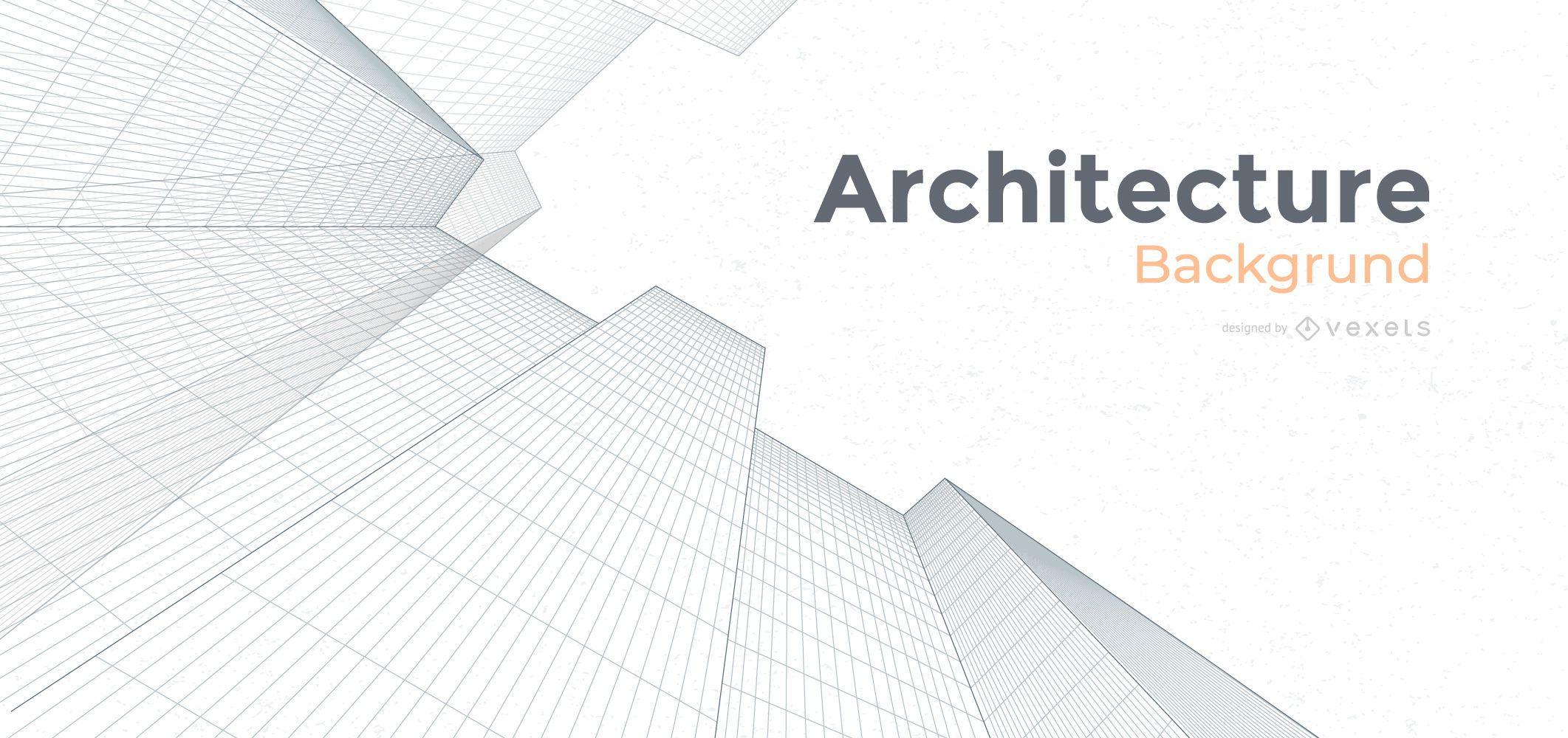 Projeto de plano de fundo de edif?cios de arquitetura