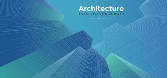 Diseño de fondo degradado de arquitectura
