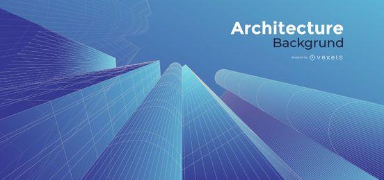 Diseño de fondo azul de arquitectura