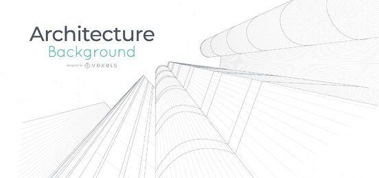 Fondo de línea de edificios de arquitectura