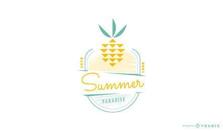 Sommer Ananas Logo Vorlage