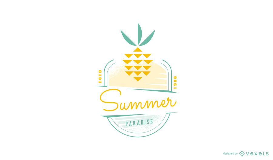 Summer pineapple logo template