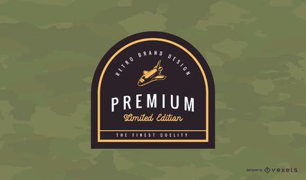 Diseño de logotipo de insignia vintage premium