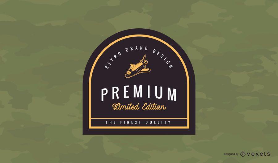 Design de logotipo premium distintivo vintage