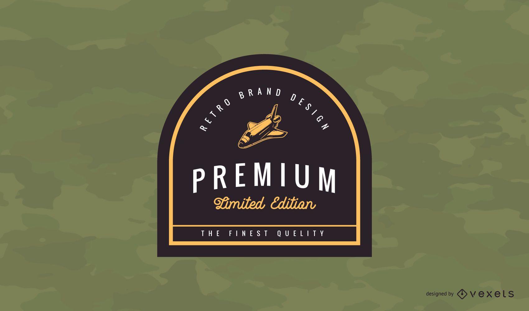 Diseño de logotipo Premium Vintage Badge
