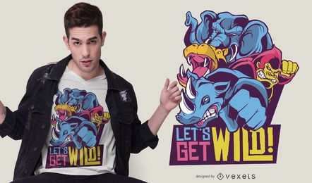 Wild Animals Quote T-shirt Design