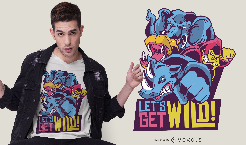 Wild Animals Quote T-shirt Design