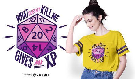 Diseño de camiseta de cita de dados de juego de roles