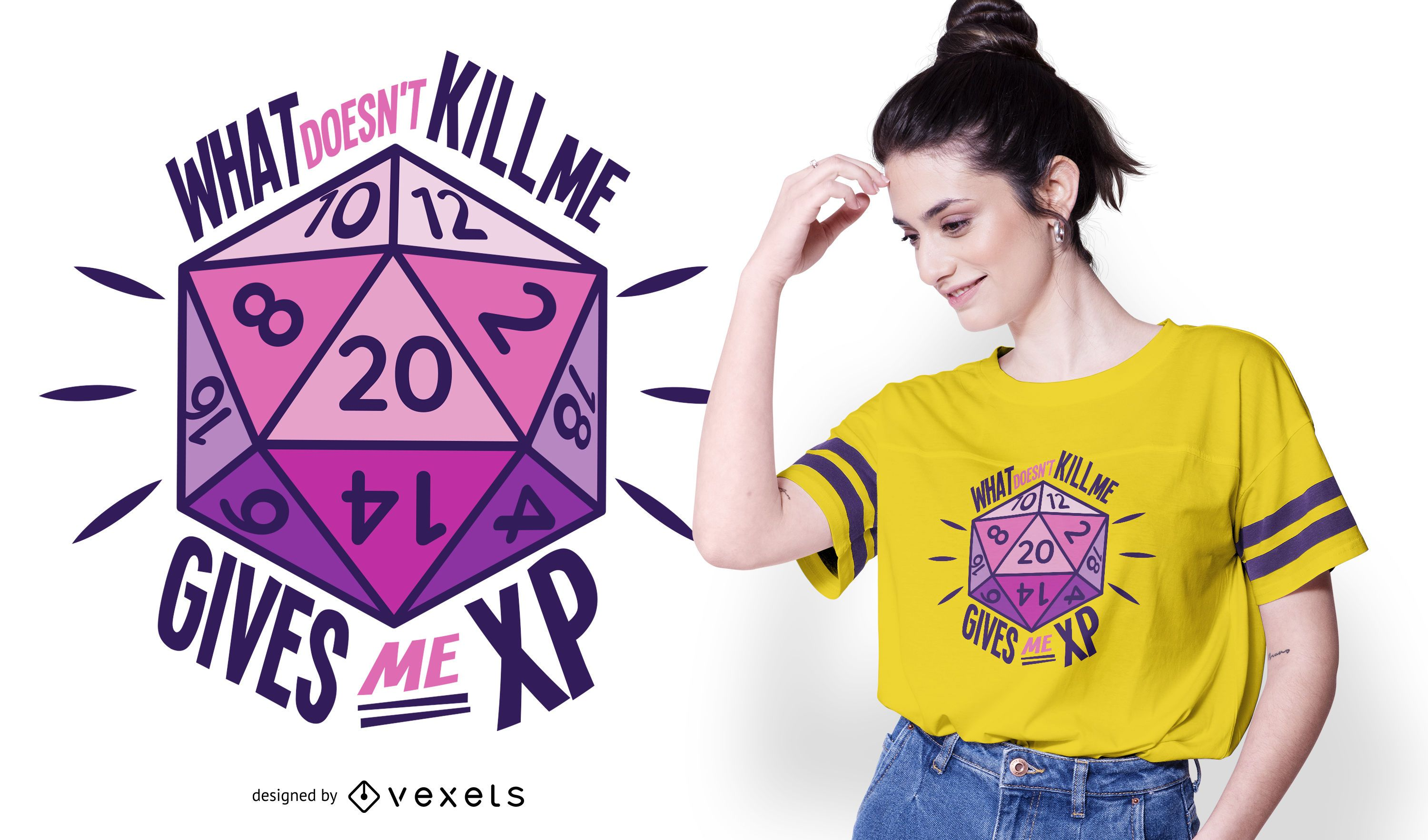 Role Playing Dice Quote T-shirt Design