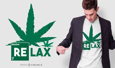 Relaxe o design do t-shirt da folha do cânhamo
