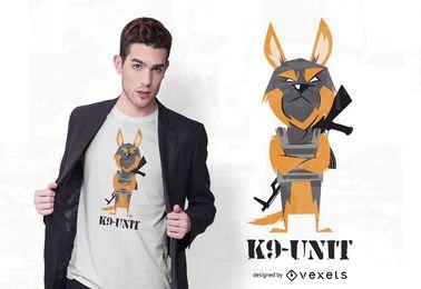 Diseño de camiseta de perro K9