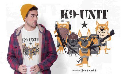 Projeto do t-shirt da unidade do cão de polícia K9