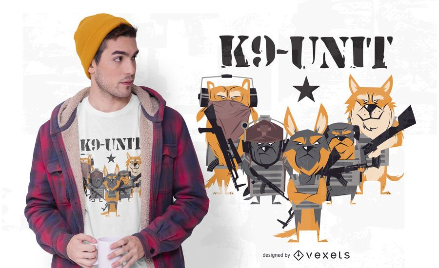 K9 Police Dog Unit T-shirt Design