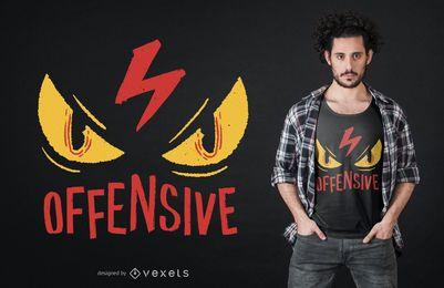 Diseño de camiseta de ojos ofensivos