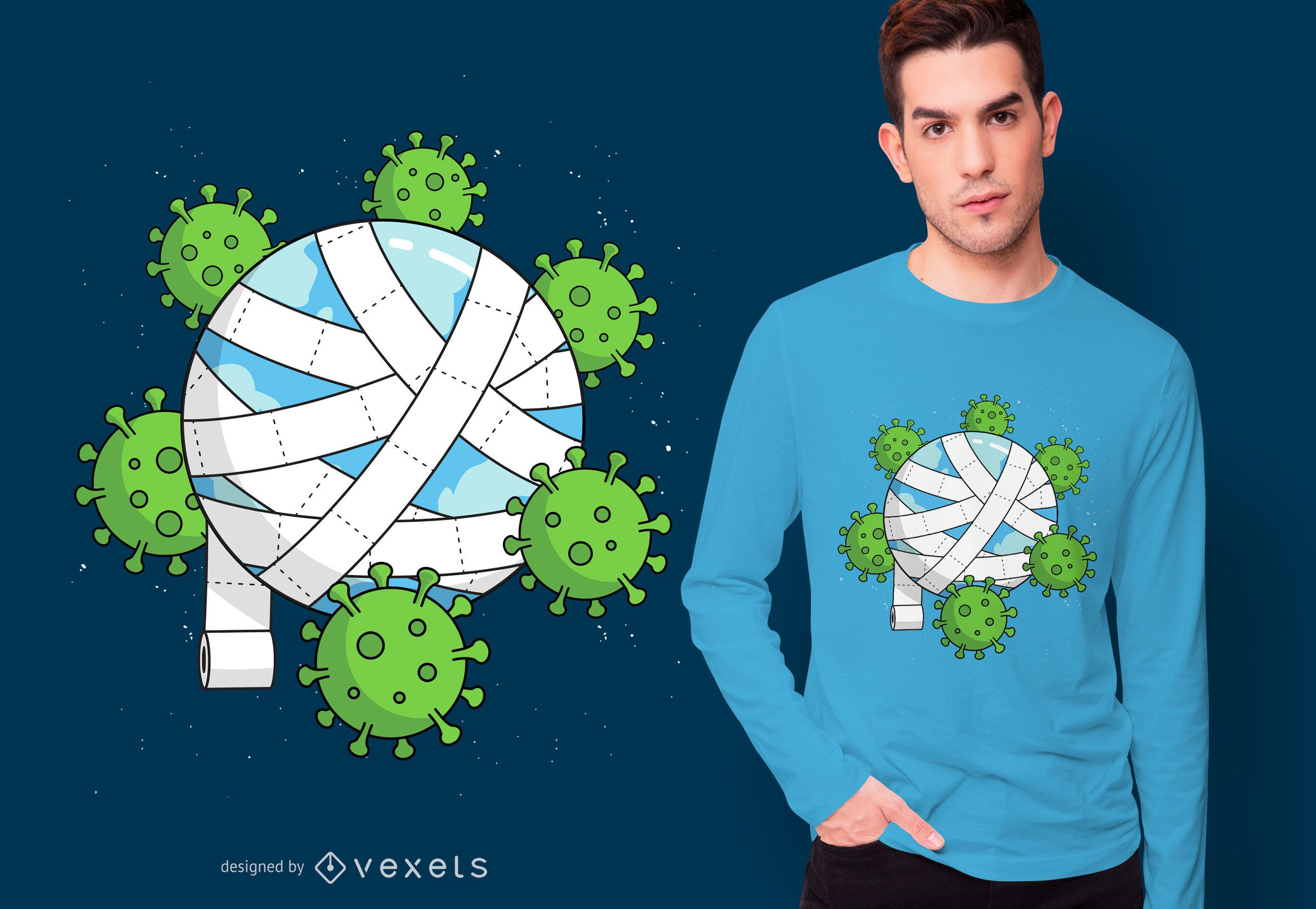 Toilet Paper Planet T-shirt Design