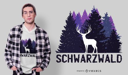 Design de t-shirt alemão da floresta negra