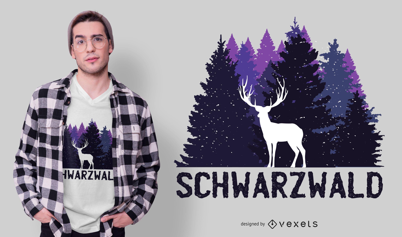 Design alemão de camisetas da Floresta Negra