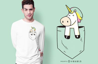 Diseño de camiseta Pocket Unicorn
