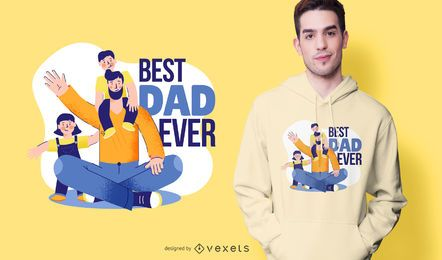 Best Dad Ever Cartoon T-shirt Design