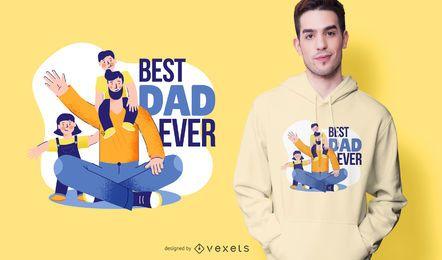 Mejor diseño de camiseta de dibujos animados de papá jamás