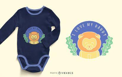 I Love My Daddy Quote Design de roupas de bebê