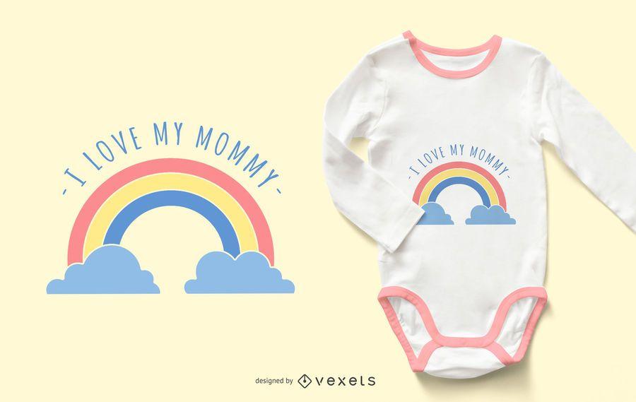 Amo a mi mamá diseño de ropa de bebé