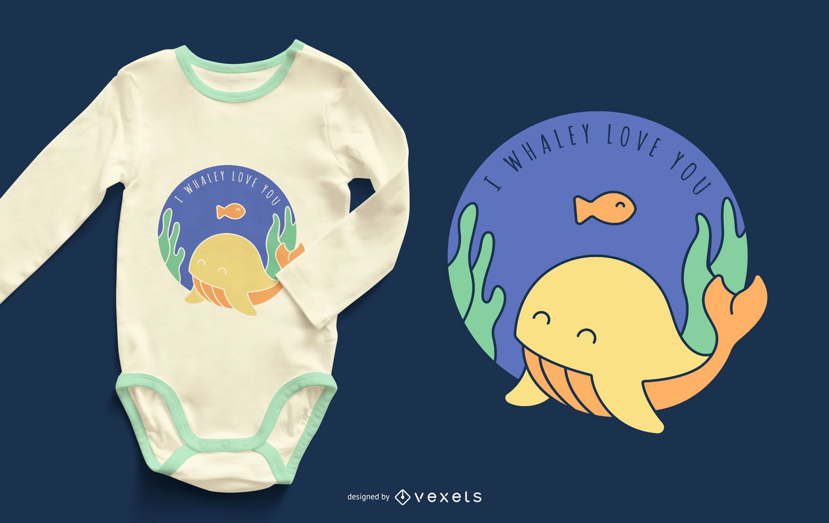 I Love You Whale Baby Clothing Design
