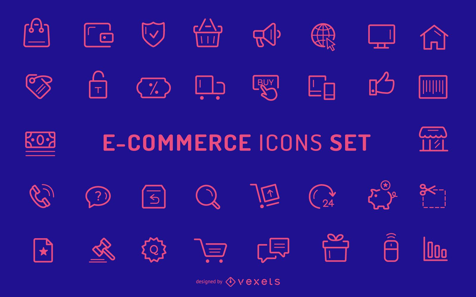 Ecommerce Stroke Icons Collection