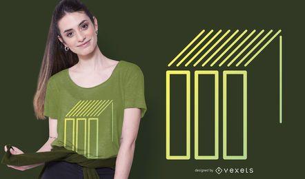 Formas geométricas e linhas Design de t-shirt