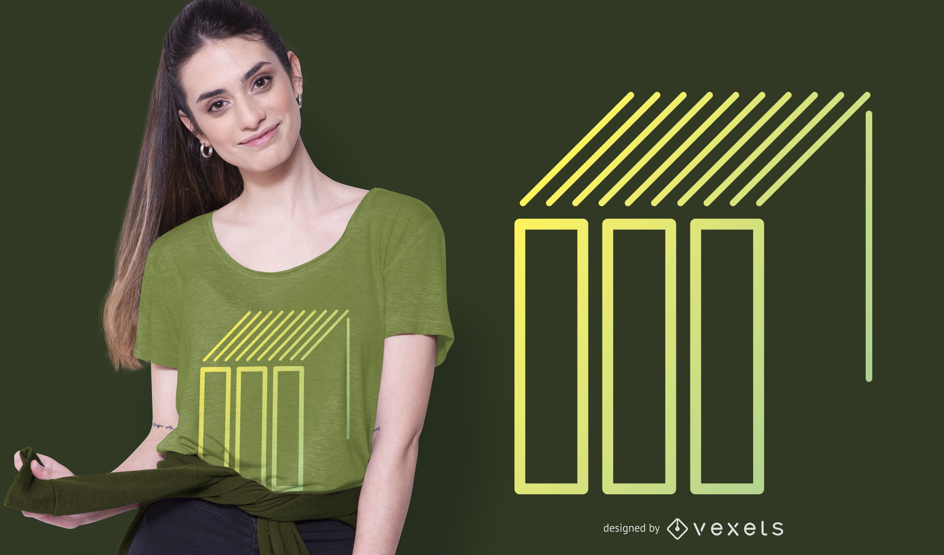 Geometric Shapes and Lines T-shirt Design