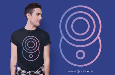 Crop Circle Gradient T-shirt Design