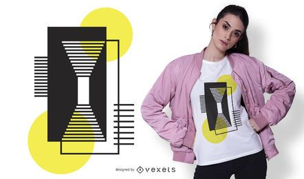 Diseño de camiseta conceptual de formas geométricas