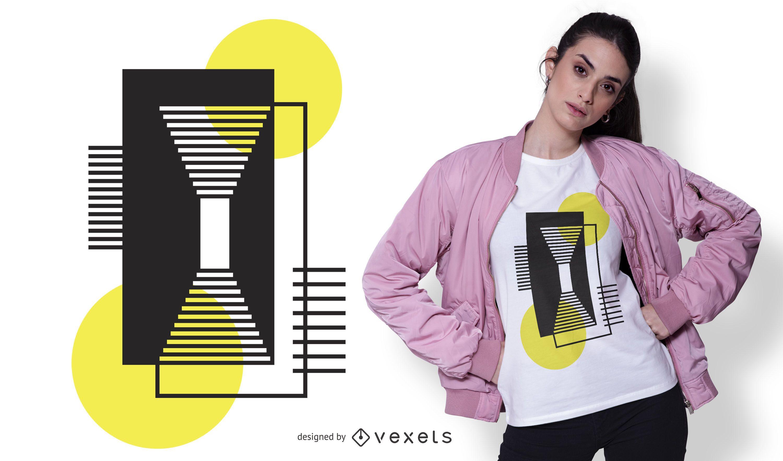 Conceptual Geometric Shapes T-shirt Design