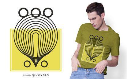 Diseño de camiseta de formas abstractas geométricas