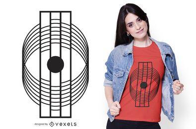 Projeto minimalista abstrato geométrico do t-shirt