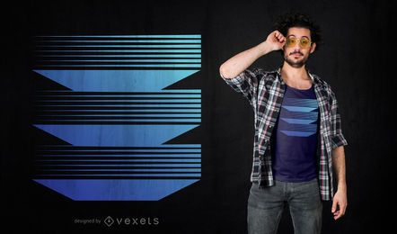 Diseño de camiseta abstracta de niveles geométricos