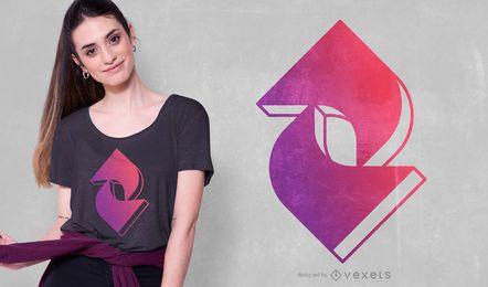 T-Sirt-Design mit geometrischem Farbverlauf