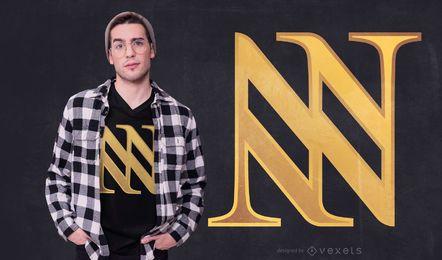 Design abstrato triplo do t-shirt de N