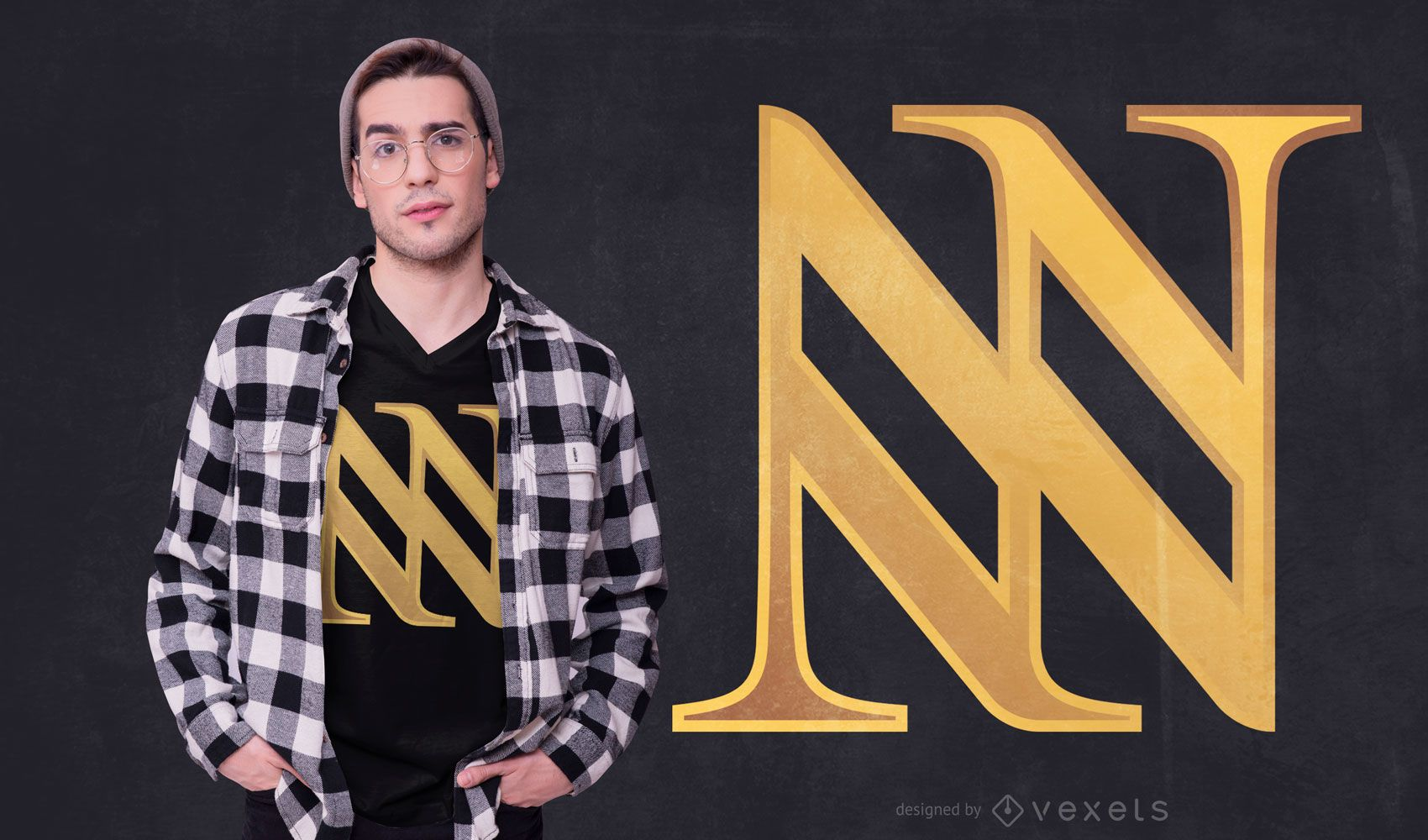 Triple N Abstract T-shirt Design