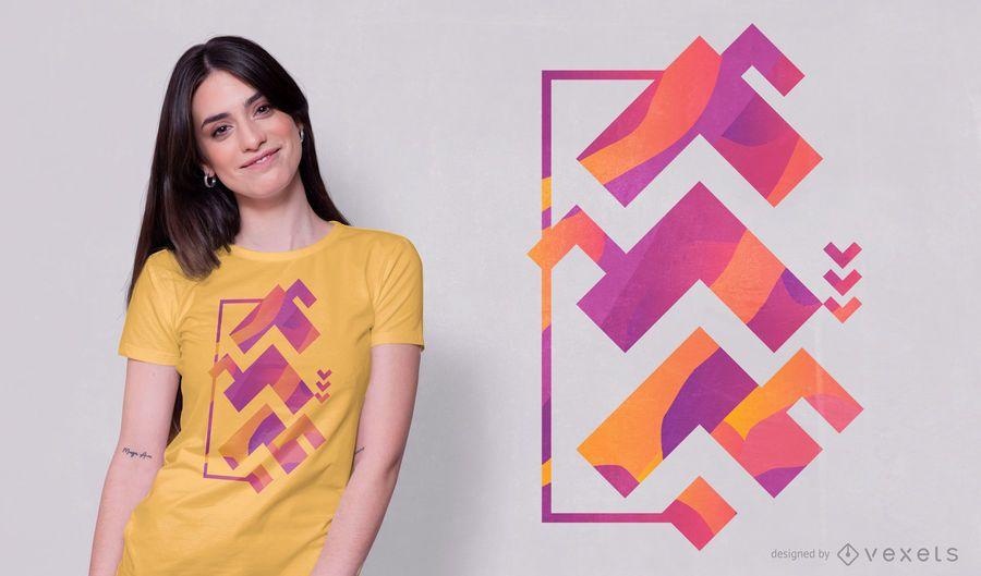 Angle Abstract Shape T-shirt Design