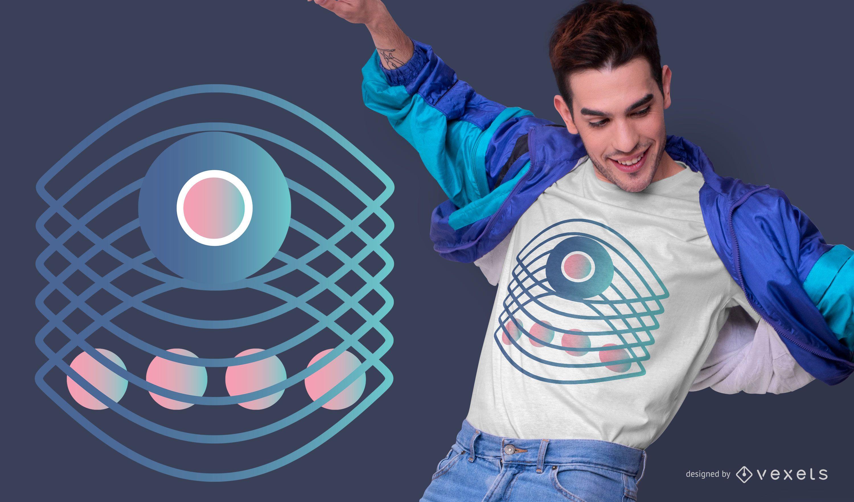 Abstract Eye Gradient T-shirt Design